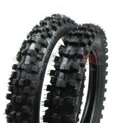 Piece Paire pneus GUANGLI 12/14 + chambres de Pit Bike et Dirt Bike