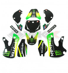 Piece Kit décoration MONSTER KLX VERT de Pit Bike et Dirt Bike