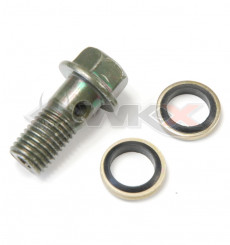 Piece Banjo 10 mm + joints de Pit Bike et Dirt Bike