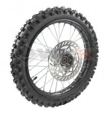 Piece Roue avant complète 14' axe 15mm de Pit Bike et Dirt Bike