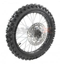 Piece Roue avant complète diamètre 14' axe 15 mm de Pit Bike et Dirt Bike