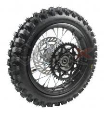 Piece Roue arrière complète 12' axe 12mm de Pit Bike et Dirt Bike