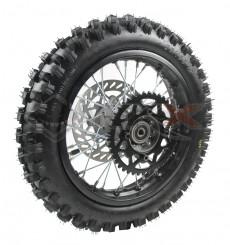 Piece Roue arrière complète diamètre 12' axe 12 mm de Pit Bike et Dirt Bike