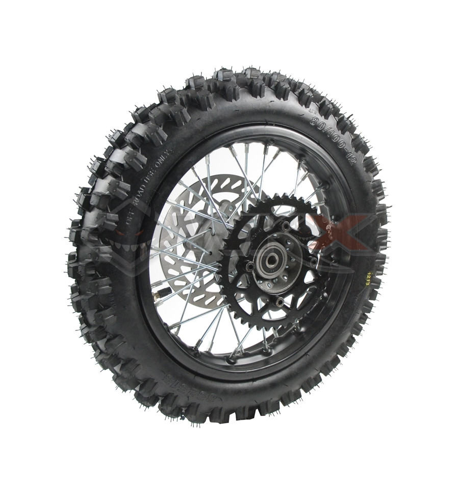 roue 12 39 arri re compl te axe 12mm de mini moto et dirt bike. Black Bedroom Furniture Sets. Home Design Ideas