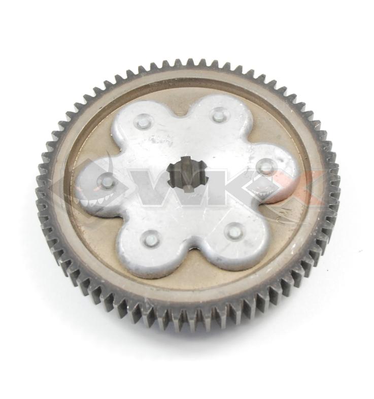 Pignon flector embrayage / boite 67 dents 125 LIFAN classic