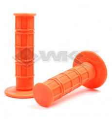 Piece Poignées plastique soft grip ORANGE de Pit Bike et Dirt Bike
