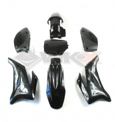 Piece Kit plastique type TTR NOIR de Pit Bike et Dirt Bike