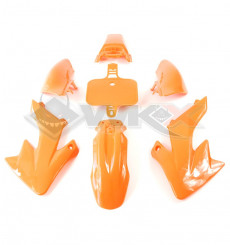 Piece Kit plastique type CRF 50 ORANGE de Pit Bike et Dirt Bike
