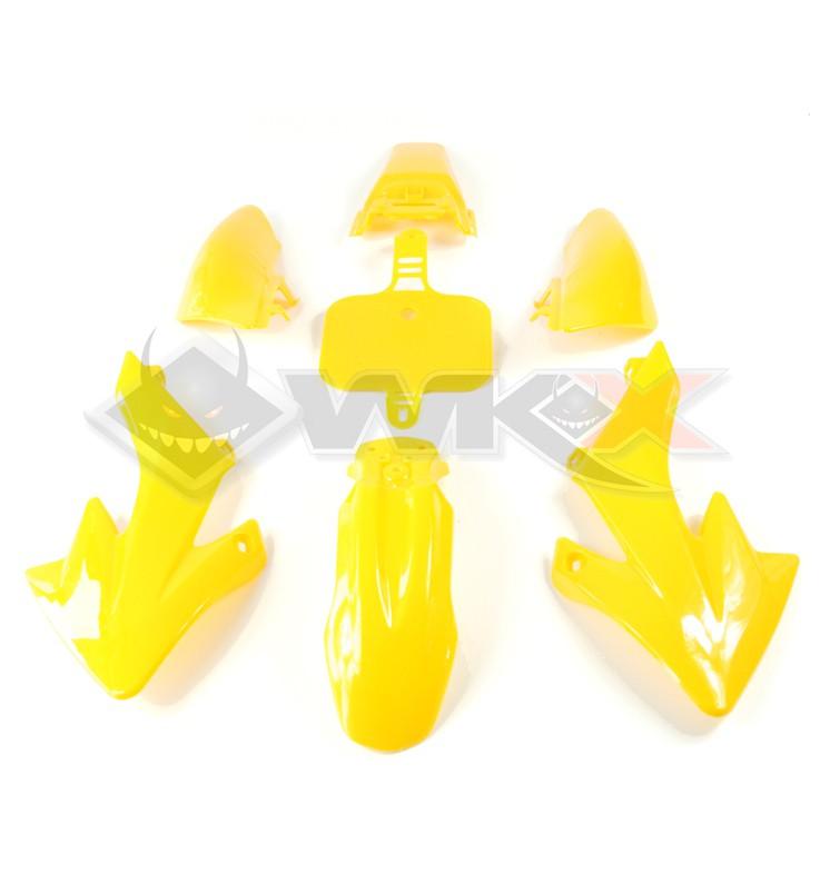 Kit plastique type CRF 50 JAUNE