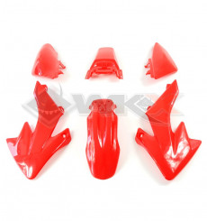 Piece Kit plastique type CRF 50 ROUGE de Pit Bike et Dirt Bike