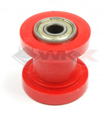 Piece Roulette de chaine 8mm ROUGE de Pit Bike et Dirt Bike