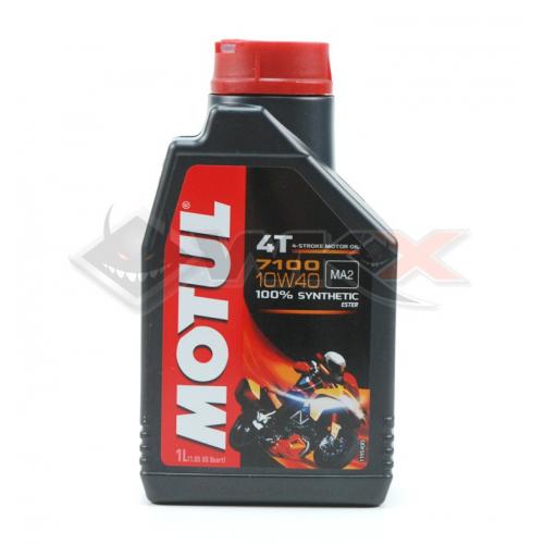 Piece Huile moteur MOTUL 7100 10W40 4T 1 Litre de Pit Bike et Dirt Bike