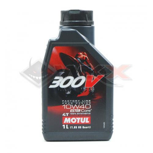 Piece Huile moteur MOTUL 300V 10W40 4T 1 Litre de Pit Bike et Dirt Bike