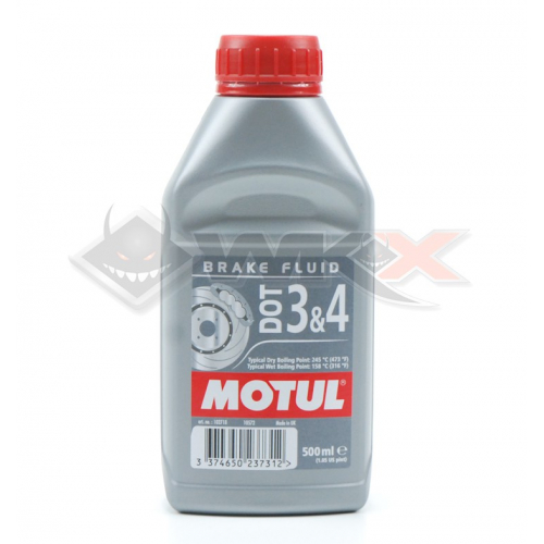 Piece Liquide de frein MOTUL DOT 3 & 4 500ml de Pit Bike et Dirt Bike