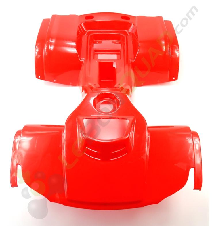 Kit plastique de Quad Hummer ROUGE