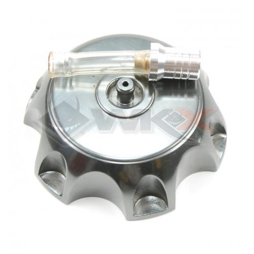 Piece Bouchon de réservoir aluminium GRIS ANTHRACITE de Pit Bike et Dirt Bike