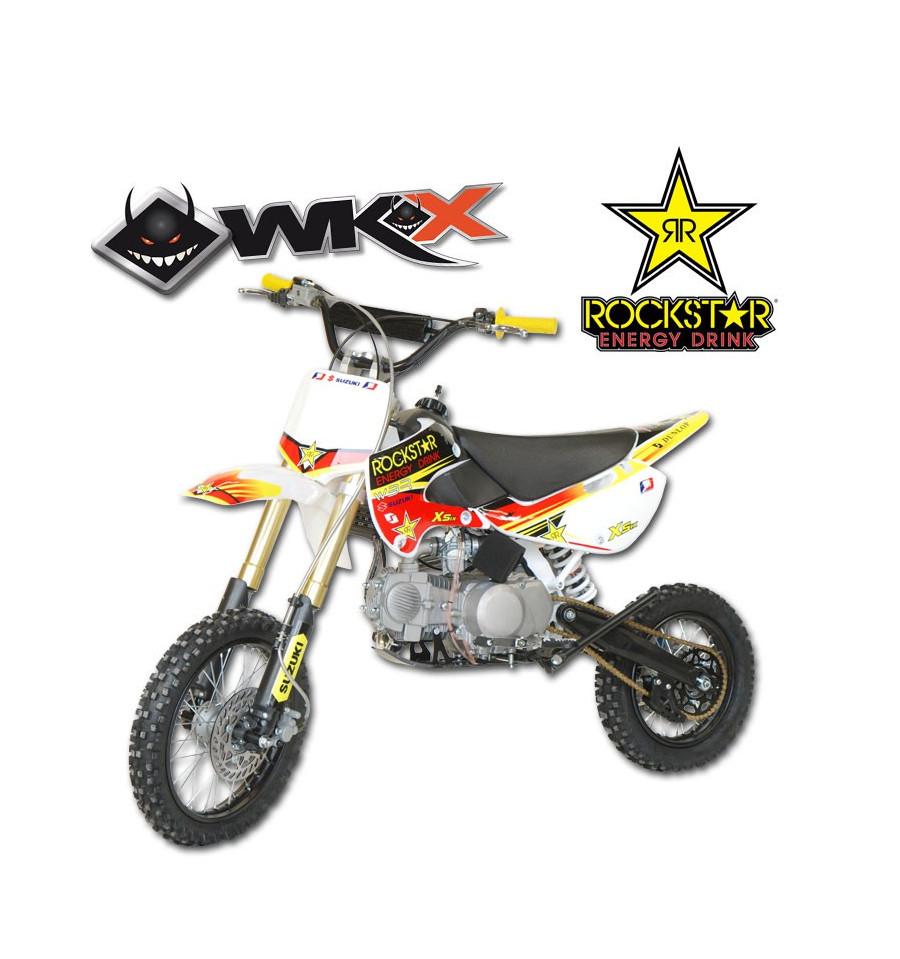 mini moto wkx 140cc dirt 140 jaune pit bike rockstar dirt bike klx. Black Bedroom Furniture Sets. Home Design Ideas