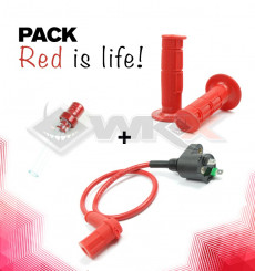 Piece Pack RED IS LIFE de Pit Bike et Dirt Bike