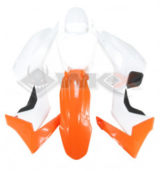 Piece Kit plastique type CRF 110 ORANGE de Pit Bike et Dirt Bike