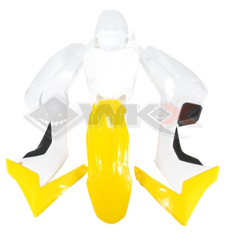 Kit plastique type CRF 110 JAUNE