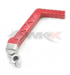 Piece Kick aluminium CNC anodisé axe 13 mm ROUGE de Pit Bike et Dirt Bike