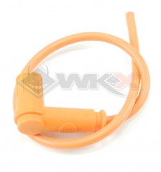 Piece Anti-parasites + cable blindé Racing ORANGE de Pit Bike et Dirt Bike