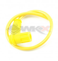 Piece Anti-parasites + cable blindé Racing JAUNE de Pit Bike et Dirt Bike