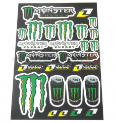 Piece Stickers autocollants MONSTER ENERGY de Pit Bike et Dirt Bike