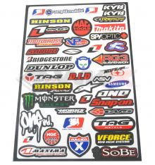 Piece Stickers autocollants MARQUES MOTO de Pit Bike et Dirt Bike