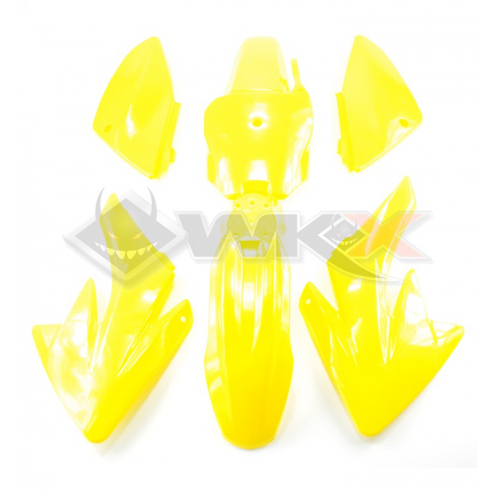 Piece Kit plastique CRF 70 JAUNE de Pit Bike et Dirt Bike