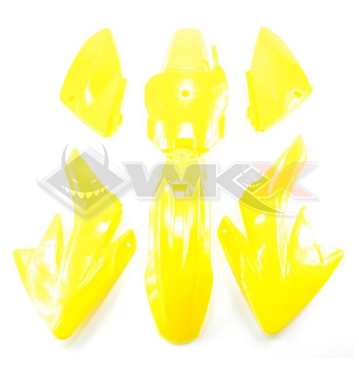 Kit plastique type CRF 70 JAUNE
