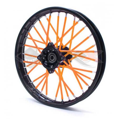 Piece Couvre Rayon ORANGE de Pit Bike et Dirt Bike