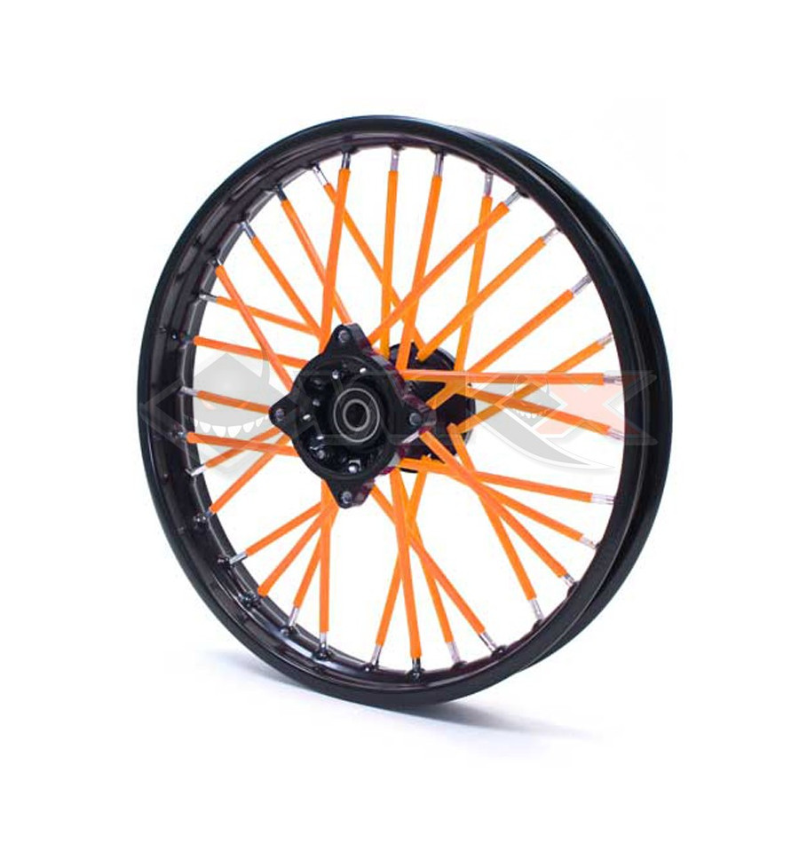 spoke skins couvre rayon orange de pit bike mini moto dirt bike. Black Bedroom Furniture Sets. Home Design Ideas