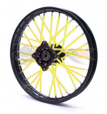 Piece Couvre Rayon JAUNE de Pit Bike et Dirt Bike