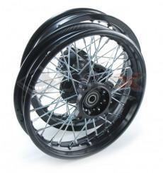 Piece Set de jantes supermotard acier avant + arrière 12' axe 15mm de Pit Bike et Dirt Bike