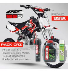 Piece Pack Pit Bike CRZ 125 S 2015 + Huile motul + Bombe chaine motul + Nettoyant freins  de Pit Bike et Dirt Bike