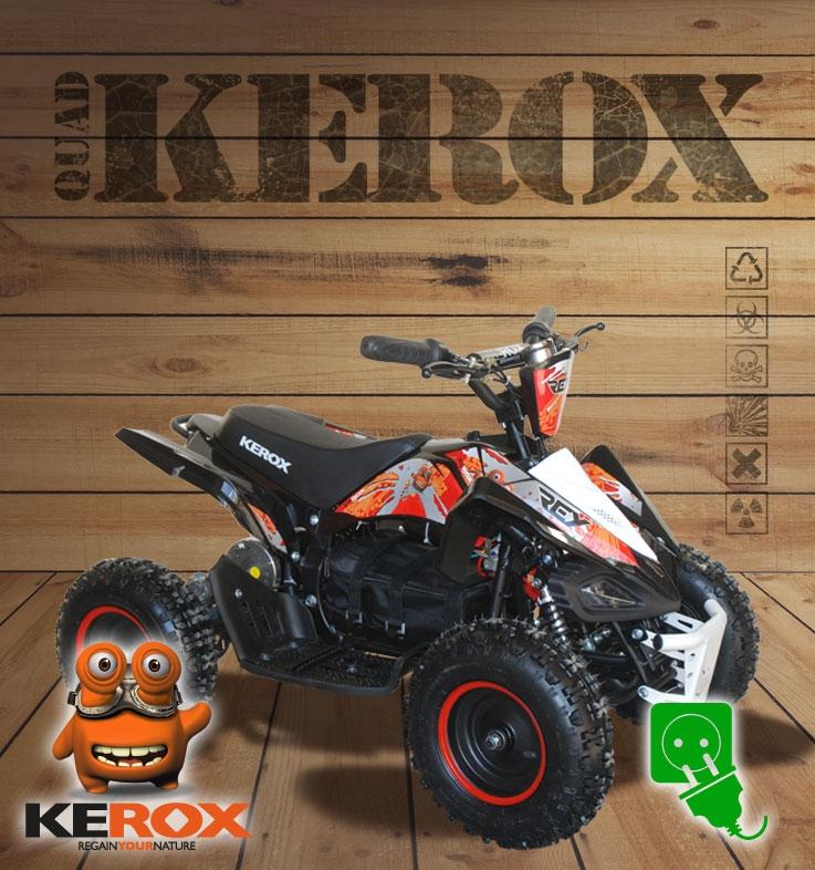 Quad KEROX E-Rex électrique ROUGE