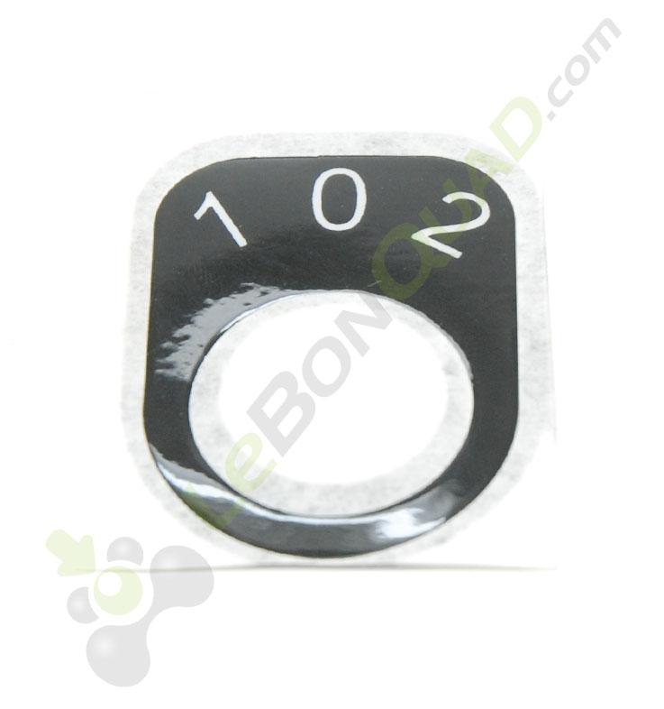 Sticker pour contacteur à clef 3 vitesses de quad pocket électrique E-Rex