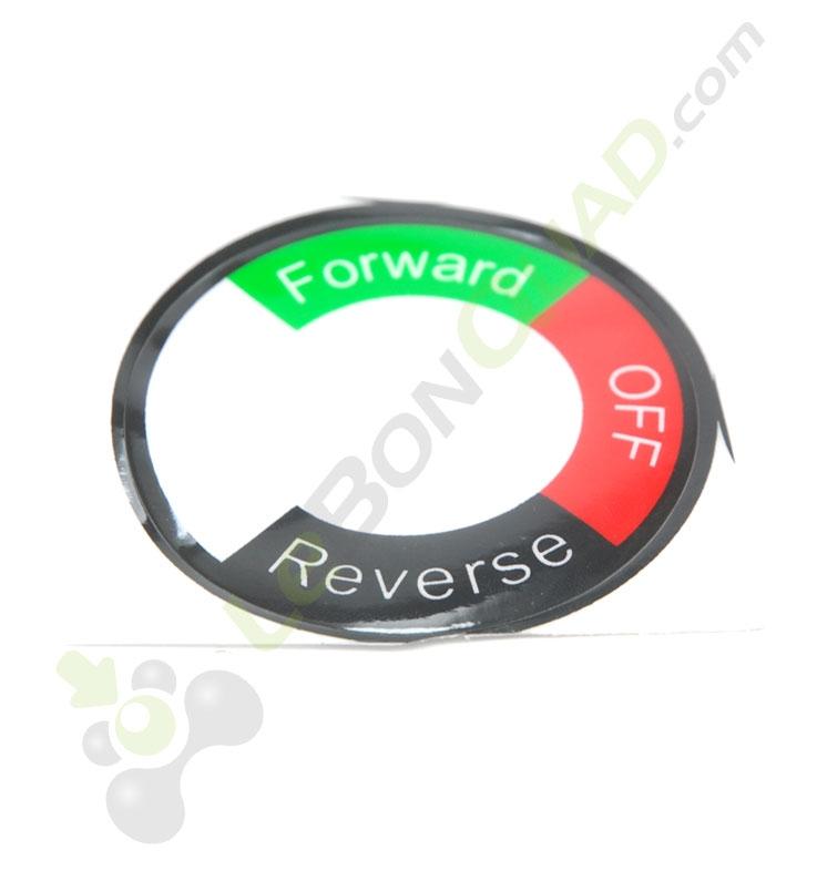 Sticker pour contacteur marche avant / arrière de quad pocket électrique E-Rex
