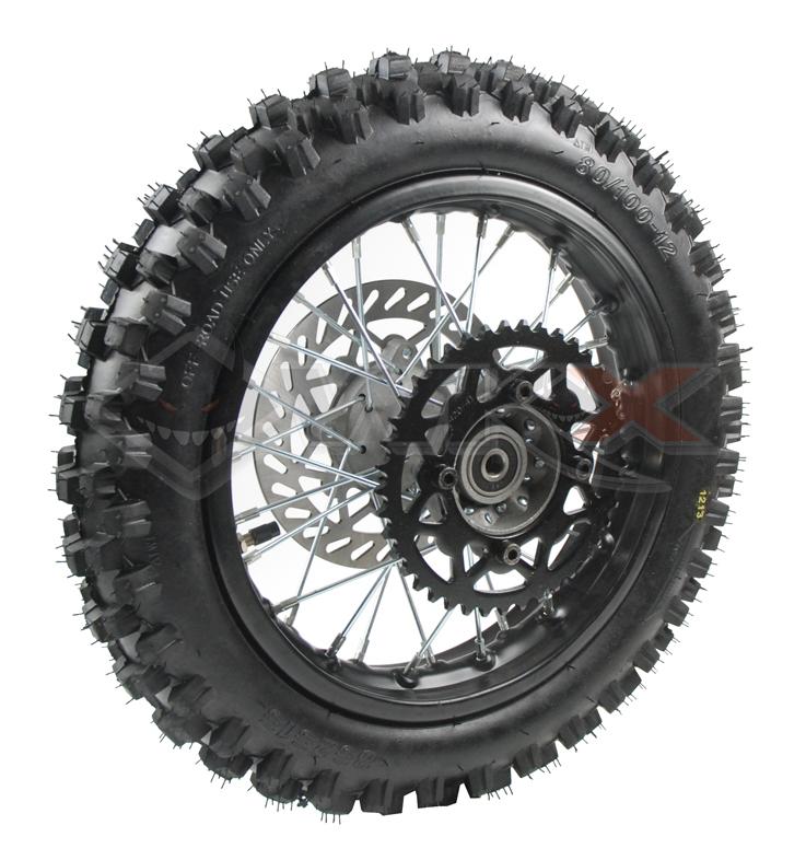 Roue arrière complète de 10 pouces pour mini moto