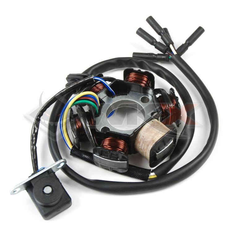 Stator d'allumage destiné aux moteurs à démarreur électrique