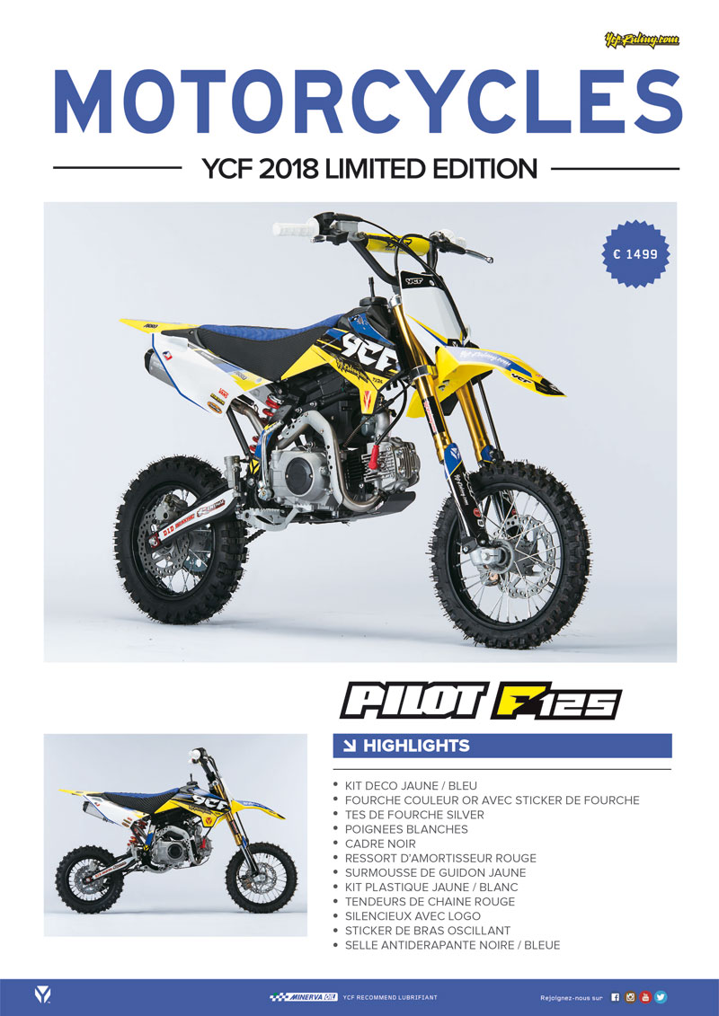 Pit Bike YCF Pilot F125 Limited édition