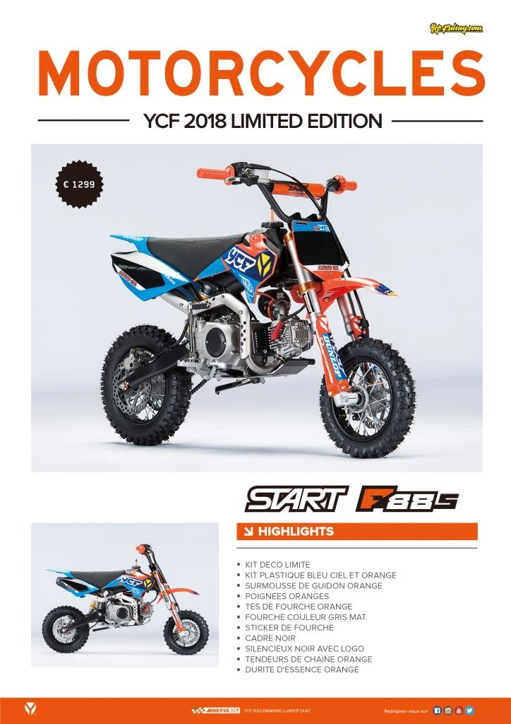 Pit Bike YCF Start F88S Limited édition