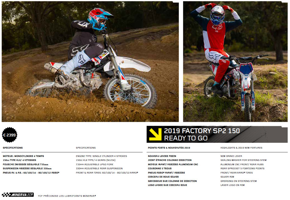 Pit Bike YCF Factory SP 2
