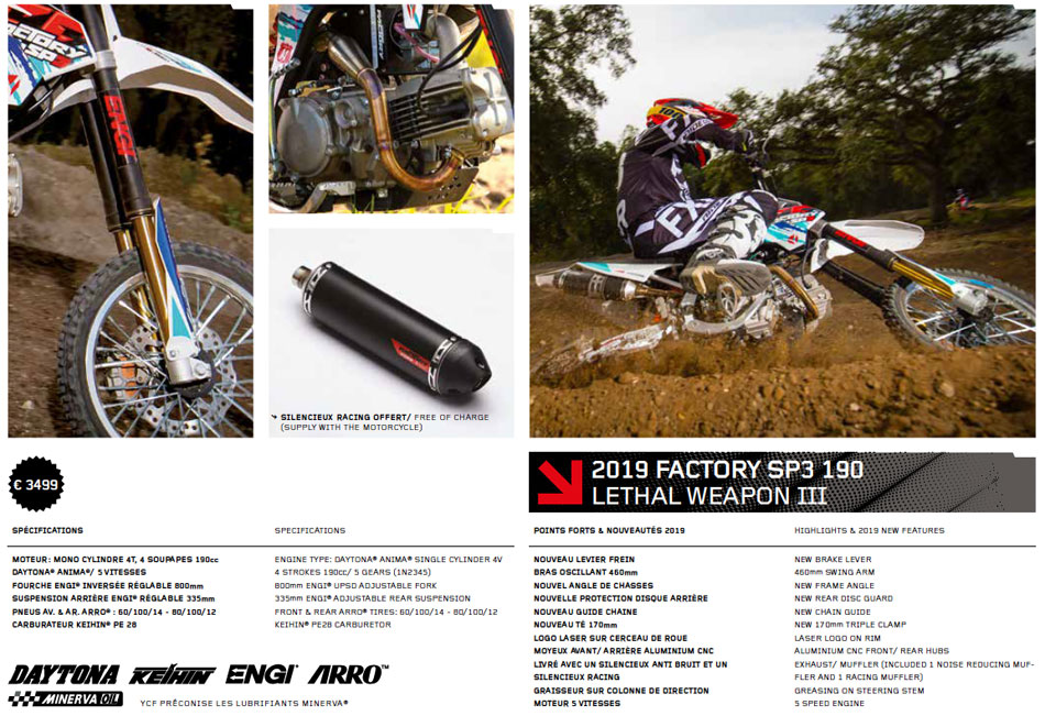 Pit Bike YCF Factory SP 3