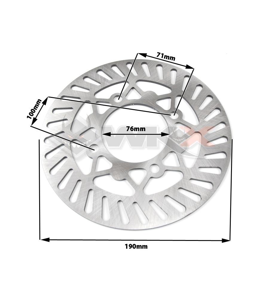 Disque de frein de 190 mm type Marzocchi pour dirt bike