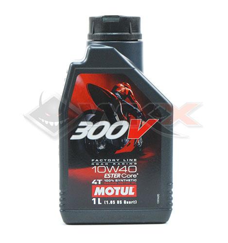 huile moteur motul 300v pour dirt bike, pit bike et mini moto