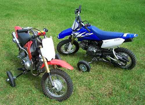 petites roues stabilisatrices pour dirt bike et pit bike