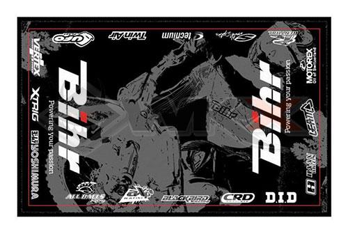 Tapis de paddock environnemental bihr pour dirt bike, mini moto et pit bike