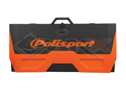 Tapis paddock enviornnemental orange pour dirt bike, pit bike et mini moto